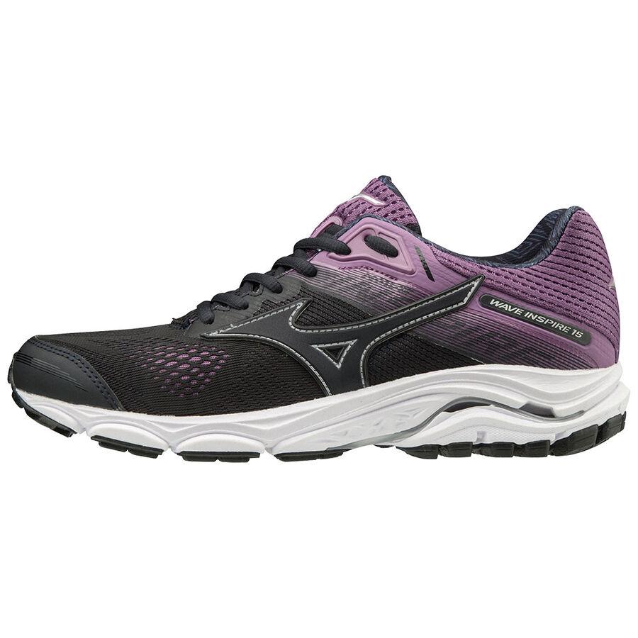 White Mizuno Wave Inspire 15 Womens Running Shoes